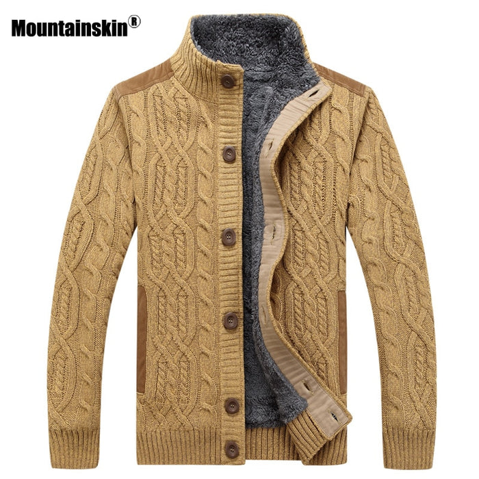 Mountainskin Mens Thick Sweater Winter Autumn Men Jacket
