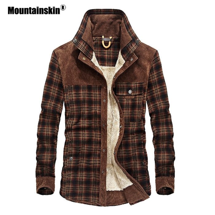 Mountainskin Men's Warm Jacket Fleece Thick Army  Coat Autumn Winter Jacket