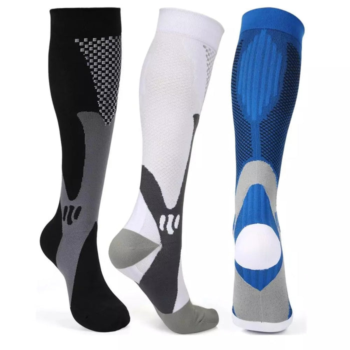 Leg Support Stretch Compression Socks Men Women Unisex  Running Athletic Medical Pregnancy