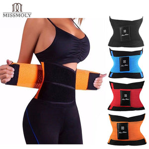 Miss Moly Sweat Belt Modeling Strap Waist Cincher For Women Men Waist Trainer Belly Slimming Belt Sheath Shaperwear Tummy Corset