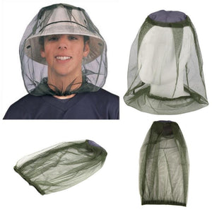 Outdoor Survival Anti Mosquito Bug Bee Insect Mesh Hat Head Face Protect Net Cover Travel Camping Protector Camping Equipment