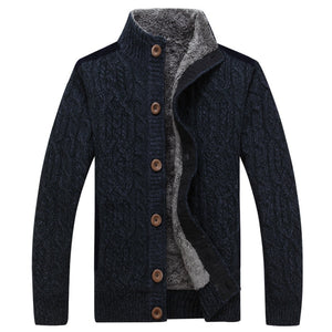 Mountainskin Mens Thick Sweaters Winter Autumn Men Sweater Coat Velvet Warm Cardigan Jacket Male Brand Clothing SA859