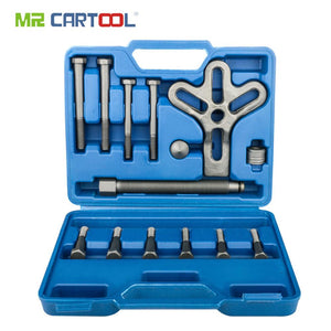 MR CARTOOL 13pcs Harmonic Balancer Steering Wheel Puller Removal Automotive Tools Heavy Duty Crankshaft Gear Pullery Repair Kit
