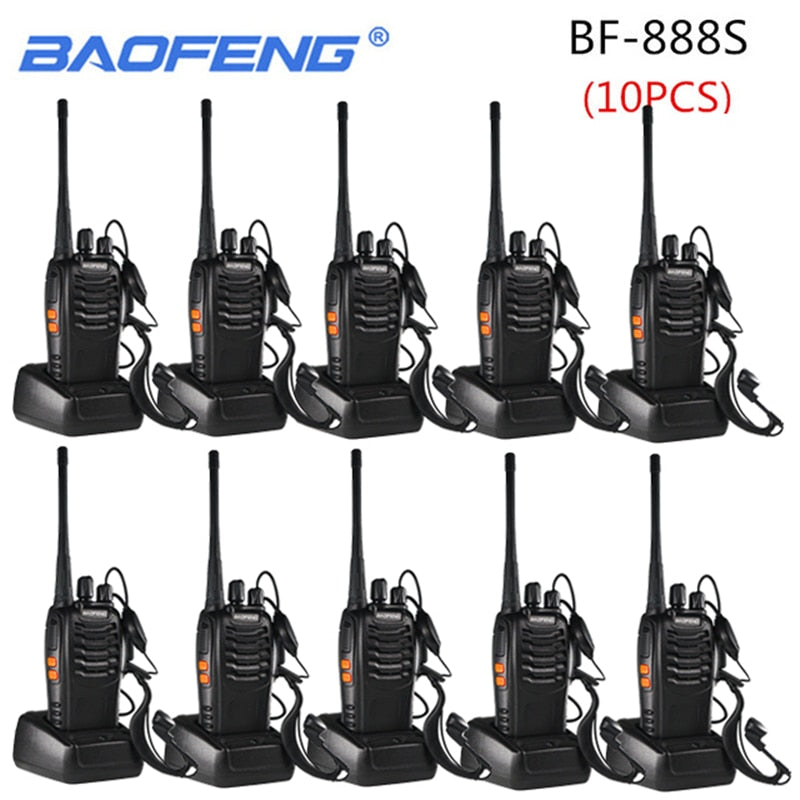 10PCS Baofeng BF-888S Walkie Talkie 888s 5W 16 Channels 400-470MHz UHF FM Transceiver