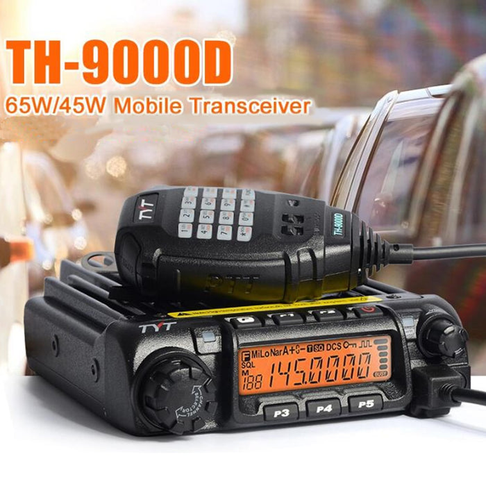 Latest Version TYT TH-9000D Mobile Radio VHF136-174MHz or UHF400-490MHz Walkie Talkie 60W/45W TH9000D