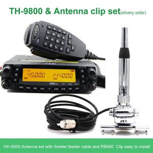 Latest version TYT TH-9800 Quad Band 29/50/144/430MHz 50W Walkie Talkie Upgraded TH9800 809CH Dual Display Mobile Radio Station