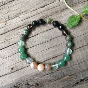 8mm Natural Stone Beads Fluorite,Warm Heart