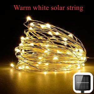 Dimmable 11m/21m/31m LEDs Outdoor Solar String Lights Fairy Holiday Christmas Party Garlands Solar Garden Helloween Decoration
