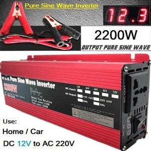 Pure Sine Wave Inverter DC 12v/24v To AC 110V/220V 800W 1600W 2200W 3000W Voltage Transformer Power Converter solar Automotive Inverter