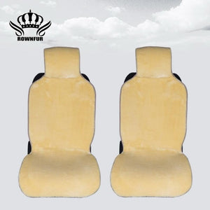 Faux fur Car Seat Cover winter White Universal Automotive interior Artificial fur Car Seat Cushion For toyota BMW Kia Mazda Ford