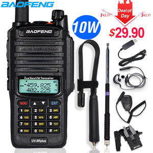 10W Baofeng UV-9R plus Walkie Talkie Waterproof Dual Band