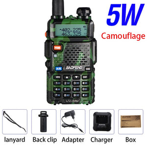 Powerful Baofeng UV-5R 8W Walkie Talkie VHF UHF Transceiver UV 5R Amateur Ham CB Radio Station 8Watts 10km Hunting Transmitter