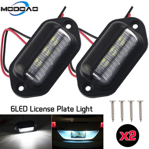 1/2Pcs 12V LED License Plate Light for Any Vehicle