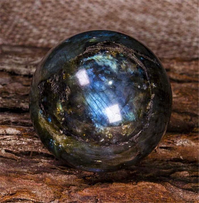 Natural Labradorite Crystal Polished Sphere Ball 100% High Quality Healing Crystal Gemstone Flash Glossy Stone Decoration