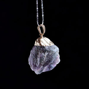 1PC Natural Fluorite Pendant Crystal  Mineral Healing