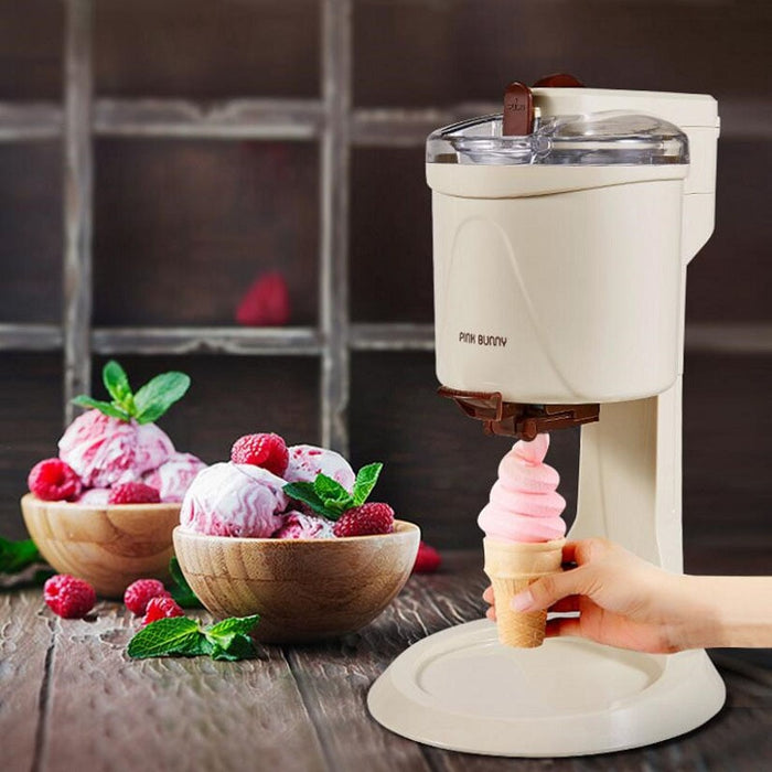 Icecream Machine Fully Automatic Mini Fruit Ice Cream Maker for Home Electric DIY Old Fashioned Ice Cream Maker