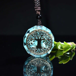 Orgone Pendant Tree Of Life Energy Orgonite Necklace Pink Crystal Healing Resin Jewelry Natural crystal stone Dropshipping