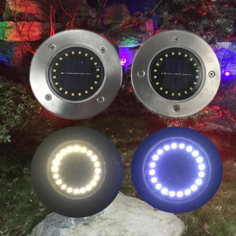 1pc/4pcs 20 LED Solar Buried Lamp Waterproof Ground