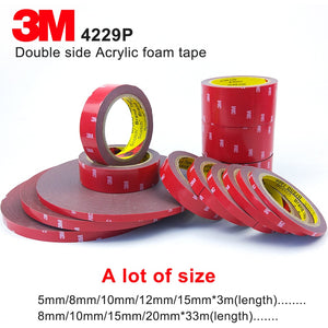 3M Double Sided Acrylic Foam Acrylic Adhesive 3M Tape 4229p,Dark Gray, Thickness 0.8mm, Automotive 3M Tape