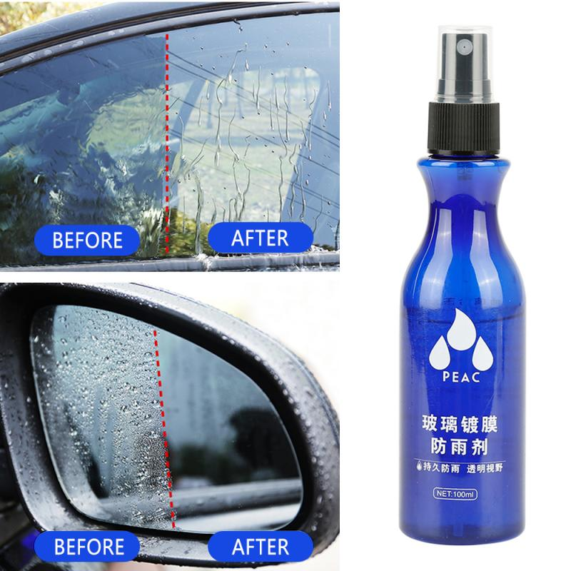 Automotive Glass Waterproof Coating Agent Car Windshield Glass Anti Rain Cleaner Oil Film Remover Rearview Mirror Rain Repellent
