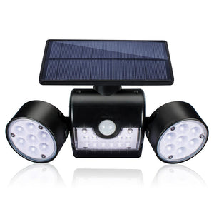 Outdoor Wall lamp Solar LED Light Motion Sensor Wall Lights 30 LED IP65 Waterproof Dual Light Head Patio Garage Fast Shipping