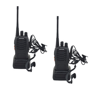2pcs/lot BF-888S Baofeng Walkie Walkie 888s UHF 400-470MHz 16 Channel Portable Two Way Radio With Warpiece BF888s Transceiver