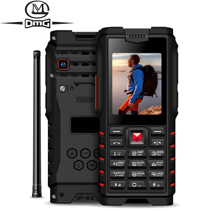 "ioutdoor  ip68 Waterproof shockproof Russian keyboard Mobile Phone 4500mAh 2.4"" Walkie-talkie intercom outdoor FM cell phones"