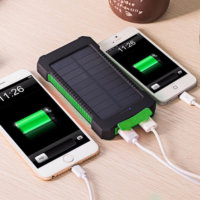 For XIAOMI Iphone 6 7 8 20000mah Portable Solar Power Bank 20000mAh External Battery DUAL Ports powerbank Charger Mobile Charger