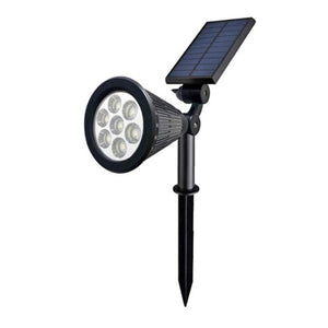 7 LED Solar Lawn Lamp Spotlight Waterproof Light Control Inserting Floor Garden Light Outdoor