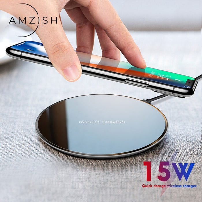 amzish 15W Fast Charger Wireless For Phone