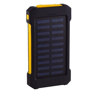 Solar Power Bank Waterproof 30000mAh Solar Charger USB Ports External Charger Powerbank for Xiaomi Smartphone with LED Light