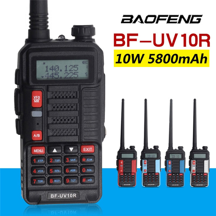 2020 Professional Walkie Talkie Baofeng UV-10R High Power 10W 5800mAh 2 Way CB USB Charging BF UV-10R