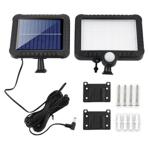 100COB LED Solar Light Motion Sensor Outdoor Recharged Leds Waterproof Solar