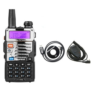 Walkie Talkie portable radio Baofeng UV-5RE Dual Band Two Way Radio Pofung UV 5RE 5W 128CH UHF/VHF Dual Display radio