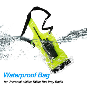 IP67 Portable Waterproof Bag Case Pouch for Baofeng BF-888S UV-5R UV-82 UV82 UV-9R plus UV8D bf888S Two Way Radio Cover Bags
