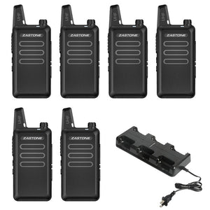 Zastone X6 Mini Walkie Talkie 400-470 UHF Walkie Talkie Portable Handheld Radio Comunicador Two-Way Ham Radio