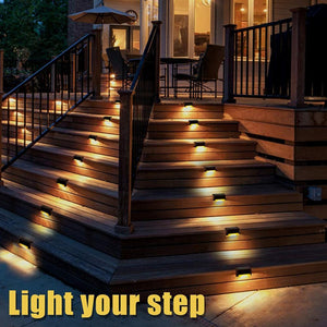 1/2/4/8/12 PCS Stairs Fence Led Solar Light Garden Light Waterproof