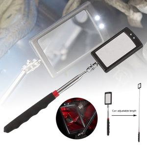 Car Repair Tools Automotive Telescopic Detection Lens Inspection Repair Telescopic Inspection Mirror Adjustable With Led Light