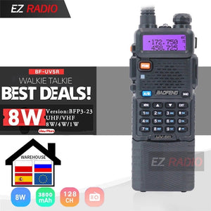 Upgrade 8W Baofeng UV-5R 3800mAh Walkie Talkie 10 KM Tri Power Dual Band Baofeng UV 5R Ham Radio 10 KM UHF VHF Ham Radio UV5R
