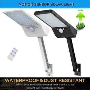 The latest super bright 48 led solar outdoor garden light, waterproof wall light, remote control solar light With Three Modes