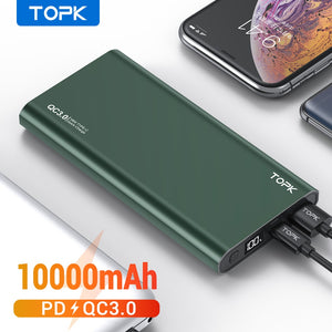 TOPK Power Bank 10000mAh Portable Charger