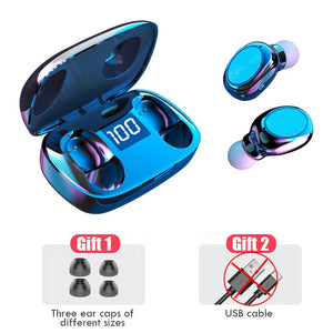 TWS 5.0 Bluetooth 6D Stereo Earphone Wireless earphones IPX7 Waterproof Earphones Sport earphones Headsets With Microphone Bass