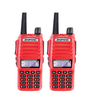 2PCS/Lot BaoFeng UV-82 Walkie Talkie 136-174MHz & 400-520MHz Two Way Radio UV82 FM Transceiver Ham Radio