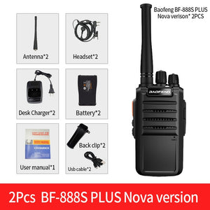 2Pcs BaoFeng BF-888S Plus Walkie Talkie 16CH Clearer Voice & Longer rRnge Updated