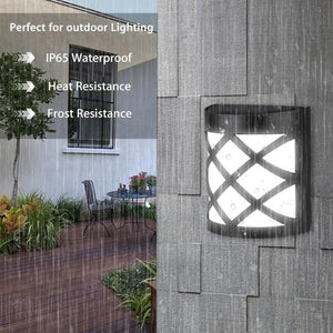 2019 New Solar Light IP65 Waterproof 6 LED PIR Motion Sensor Wall Light Outdoor Solar
