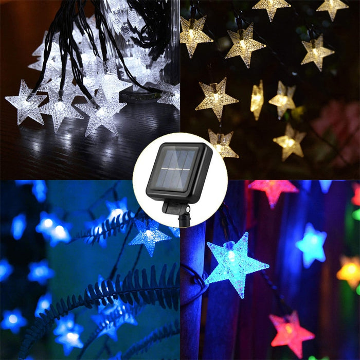 Solar Power 5M 20LEDS,7M 50LEDS,12M 100LEDS Star Fairy String Light Garlands Garden Christmas ,Wedding Decoration For Outdoor