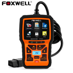 FOXWELL NT301 OBD2 Scanner Professional EOBD OBDII Code Reader Engine Check ODB2 OBD 2 Automotive Scanner Diagnostic Tool