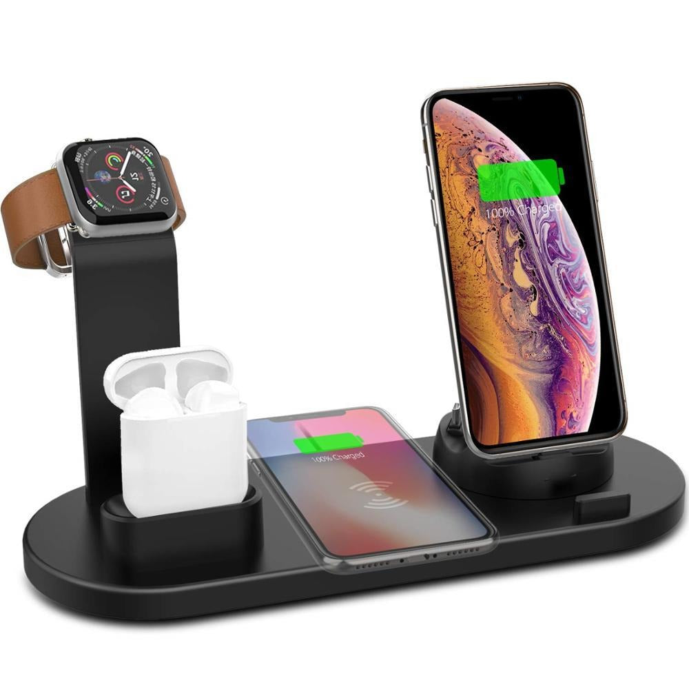 4 In 1 Wireless Charging Stand For Apple Watch & Phone