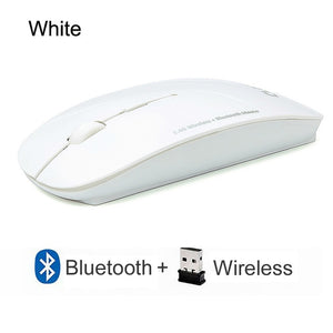 Wireless Mouse Computer Bluetooth Silent Mause Ergonomic Mouse 2.4Ghz USB Optical For Macbook Laptop PC