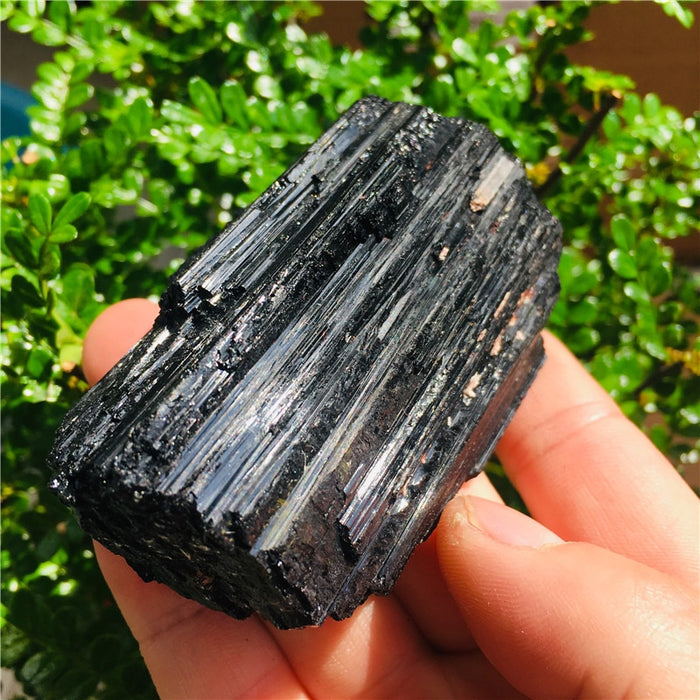 AAA 50-300g NATURAL Black TOURMALINE CRYSTAL STONE ORIGINAL 1pc